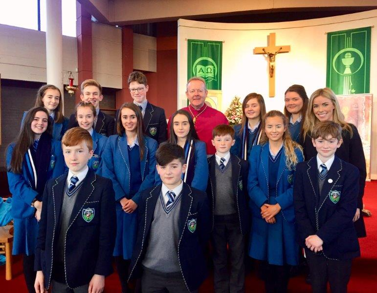 Miss Burns and a number of pupils attended the Catholic Schools Week Launch in Portadown