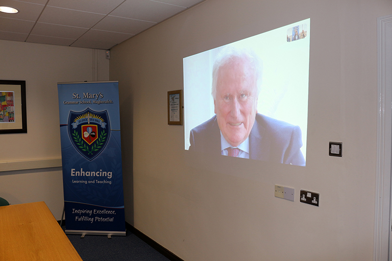 Senior students spoke to Lord Kerr via a Skype call.