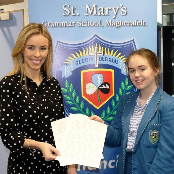 Miss Burn's, Head of RE. pictured with Lauren Toner.